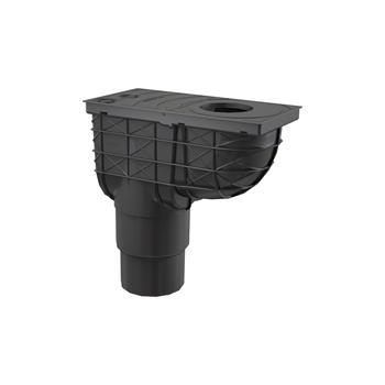 Regensinkkasten 300 × 155/125/110 Abgang senkrecht, schwarz