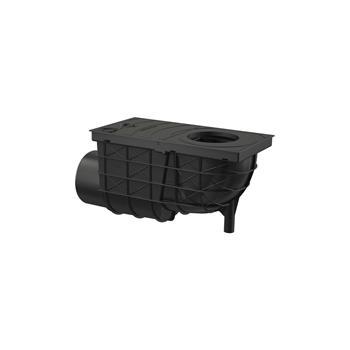 Universal - Regensinkkasten 300 × 155/110 Abgang waagrecht, schwarz