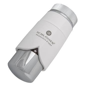 Thermostatkopf für Danfoss DR Weiß-Chrom