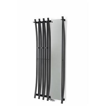 Passo Garderobe 1800h x 520b mit Spiegel, zwei Hagenreihen weiss